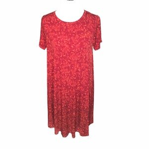 LuLaRoe Carly Simply Comfortable Dress, Red, Small